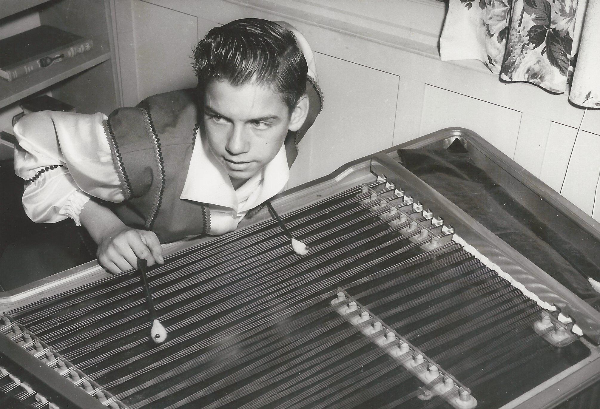 Portrait: Jim at cimbalom